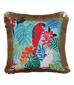 Cojín decorativo de poliéster Destination Summer Tropical Parrot