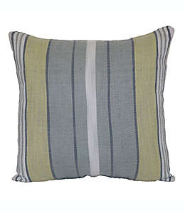 Cojín decorativo de poliéster Bee & Willow™ Home Woven Stripe color verde/azul