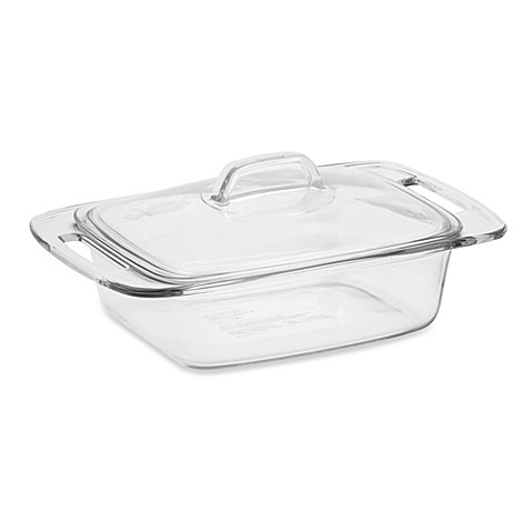 Pyrex 174 Easy Grab 2 Quart Covered Glass Casserole Bed