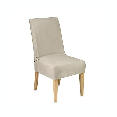 Cotton Duck Shorty Dining Chair Slipcover Bed Bath Amp Beyond