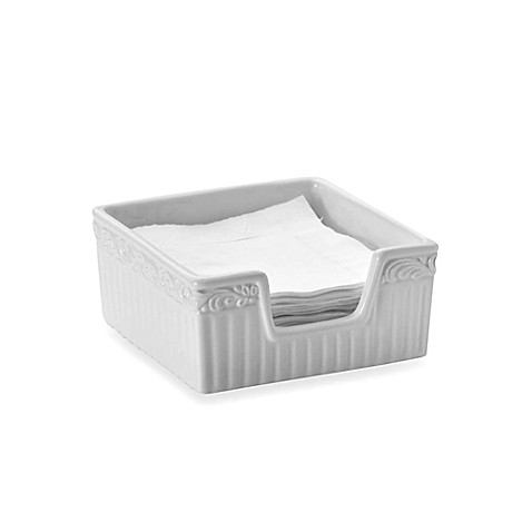 Mikasa italian countryside napkin holder with napkins for Bathroom napkin holder