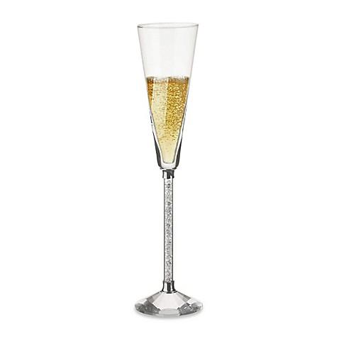 Oleg Cassini Crystal Diamond Toasting Flutes Set Of 2