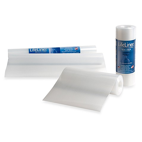 ... Brothers® Lifeliner® Clear Shelf Cabinet Liner - Bed Bath & Beyond