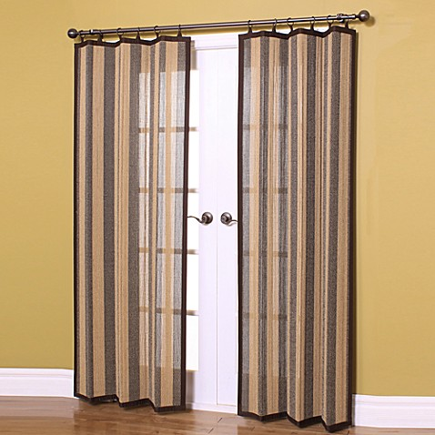 Buy Easy Glide All Natural 63 Inch Bamboo Ring Top Window Curtain Panel From Bed Bath Beyond