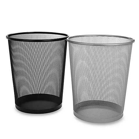 mesh metal wastebasket bed bath beyond. Black Bedroom Furniture Sets. Home Design Ideas