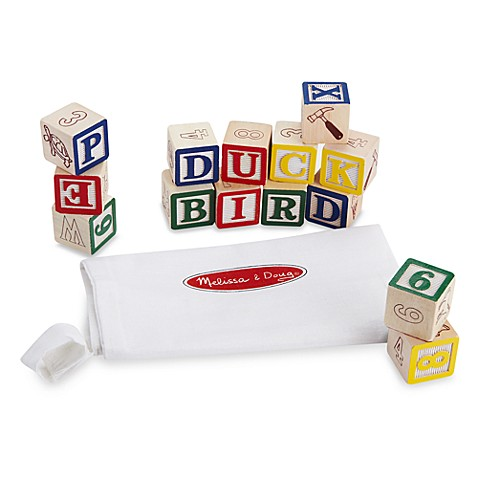 Melissa Amp Doug 174 Wooden Abc 123 Blocks Buybuy Baby