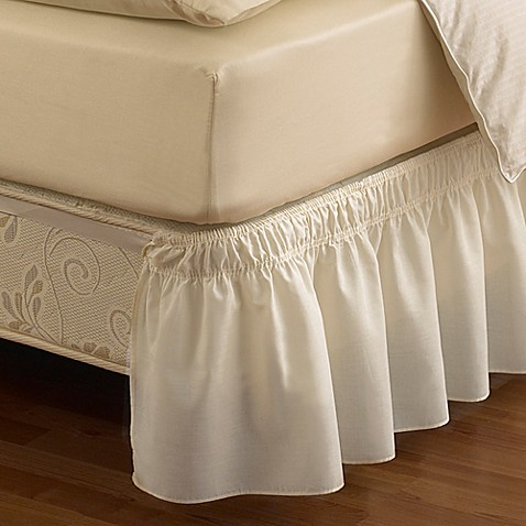 Buy Ruffled Solid Queen King Adjustable Bed Skirt In White