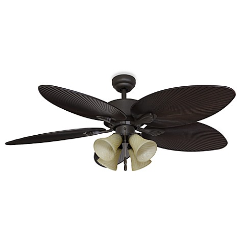 Palm Clay 52 Inch 4 Light Ceiling Fan Bed Bath Amp Beyond