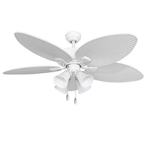 52-Inch Simonton 4-Light White Ceiling Fan - Bed Bath & Beyond
