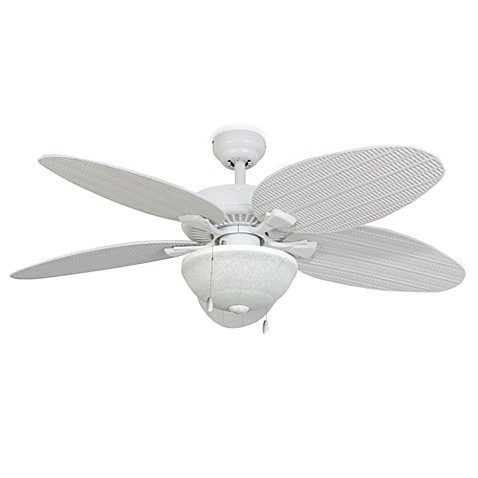 52 Inch Hawks Cay Outdoor Ceiling Fan With Light Kit Bed