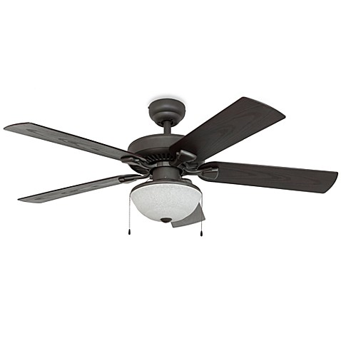 52 Inch Halifax Outdoor Bronze Ceiling Fan With Light Kit