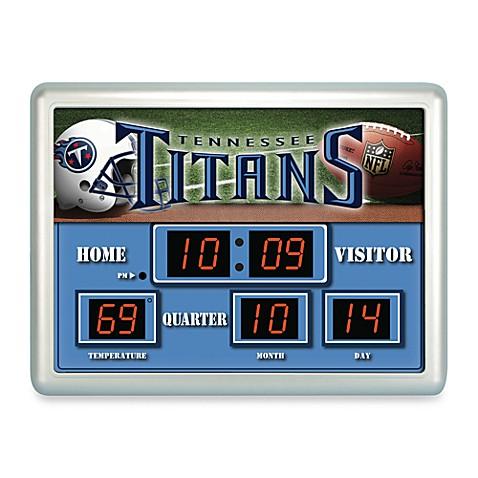 Nfl Tennessee Titans Indoor Outdoor Scoreboard Wall Clock