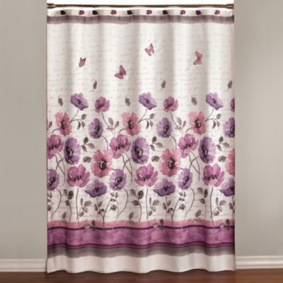 Black And White And Red Shower Curtains