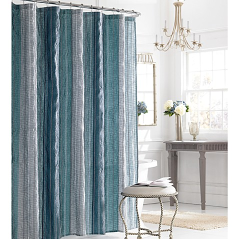 Manor Hill 174 Sierra Shower Curtain In Blue Bed Bath Amp Beyond