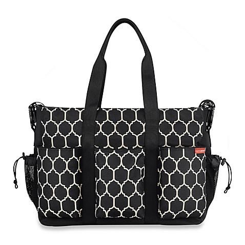 SKIP*HOP® Double Duo Diaper Bag in Onyx Tile