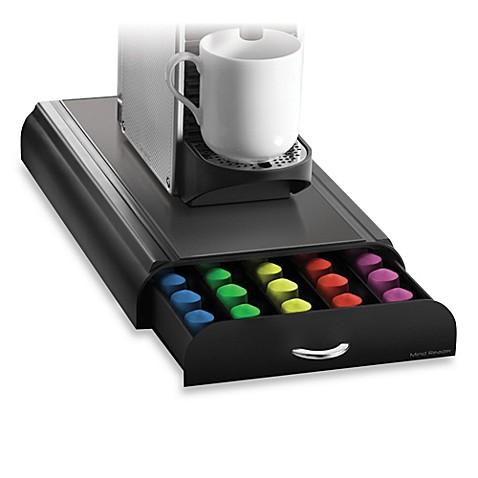 Mind reader anchor nespresso coffee capsule drawer holds 50 capsules bed - Presentoir capsules nespresso ...