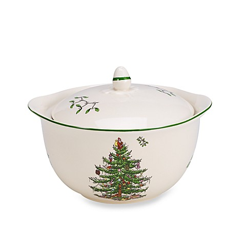 Spode Christmas Tree 4 Inch Individual Casserole With Handles