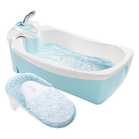 summer infant lil 39 luxuries whirlpool bubbling spa shower bath tub in light blue bed bath. Black Bedroom Furniture Sets. Home Design Ideas
