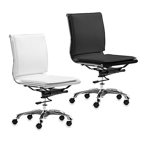 Zuo Modern Lider Plus White Armless Office Chair at Bed Bath & Beyond in Cypress, TX   Tuggl