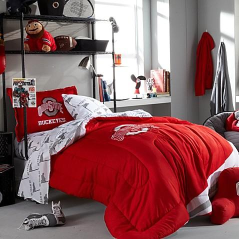 Collegiate Ohio State Dorm Room College Collection Bed