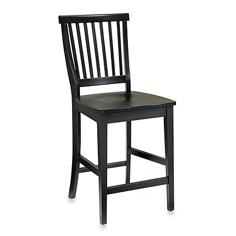 Home Styles Arts Crafts Bar Stool In Black Finish Bed Bath Beyond