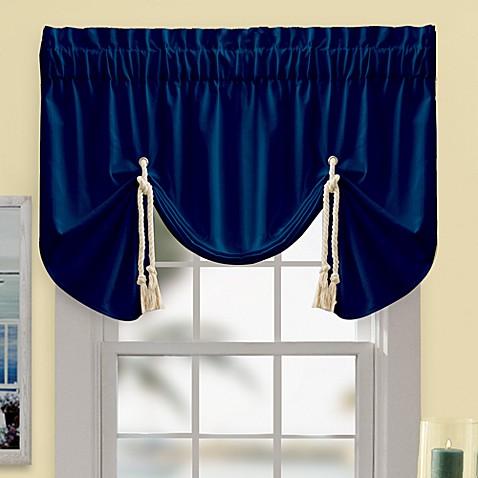 Buy Regalia Valance In Navy From Bed Bath Amp Beyond