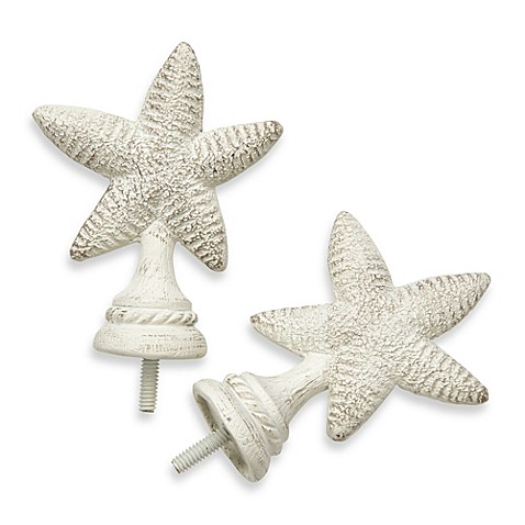 Buy Cambria 174 Complete White Starfish Finials Set Of 2