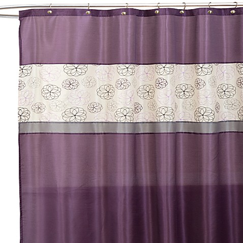 Covina Purple And Ivory 72 Inch X 72 Inch Shower Curtain