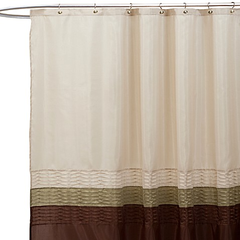 Buy Mia Green And Brown 72 Inch X 72 Inch Shower Curtain From Bed Bath Beyond