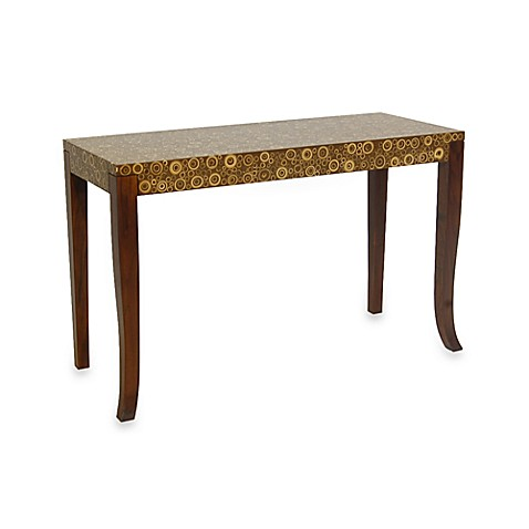 buy jeffan international habitat console circle pattern table from bed bath beyond. Black Bedroom Furniture Sets. Home Design Ideas