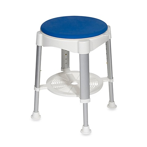Drive Medical Bath Shower Stool With Blue Padded Rotating
