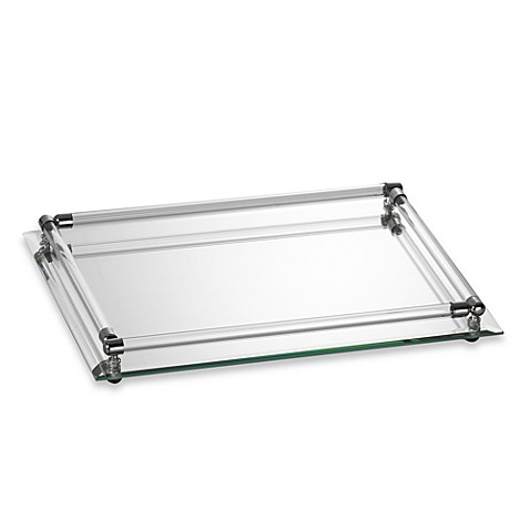 Buy small rectangular vanity tray from bed bath beyond for Mirrored bathroom tray
