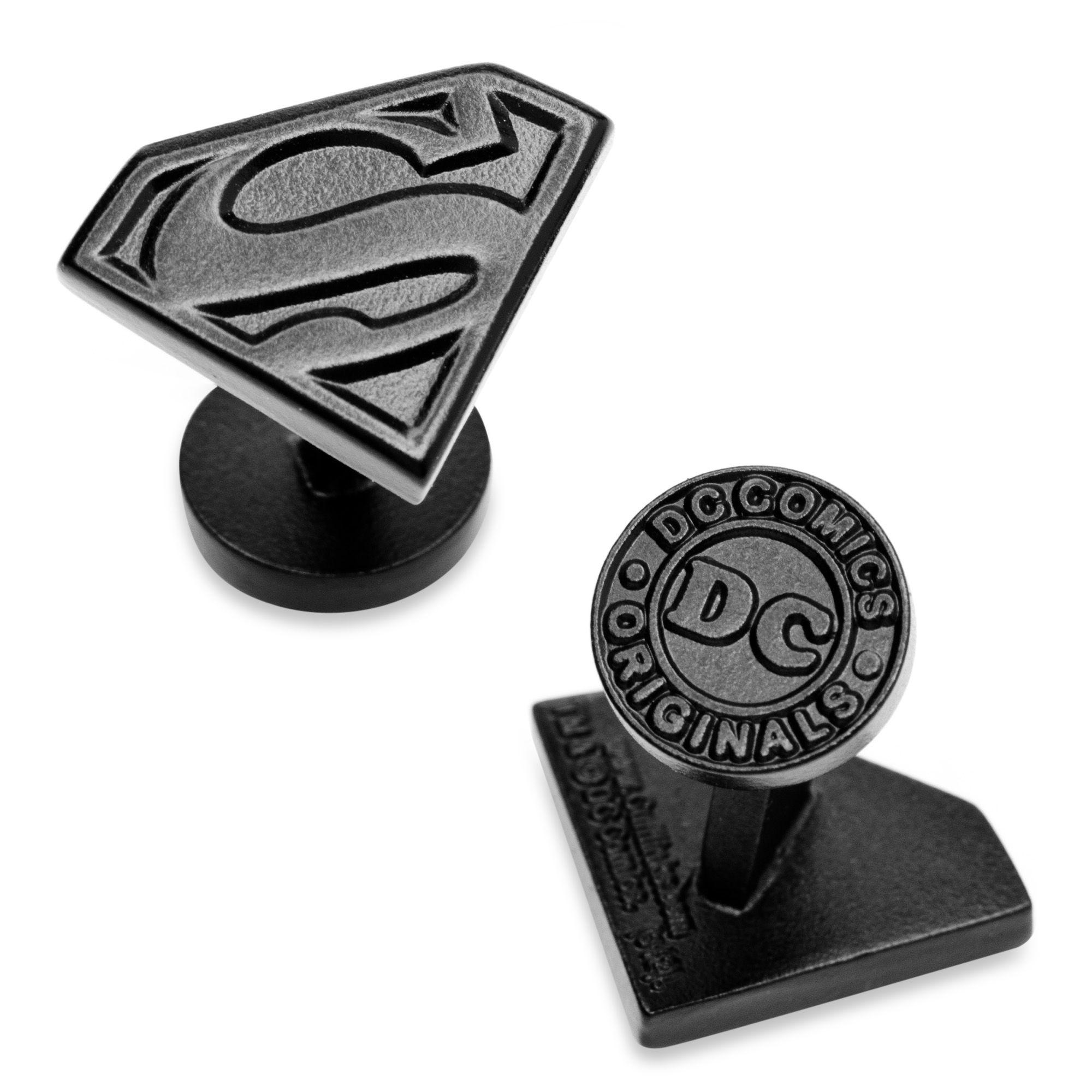DC Comics Black Enamel Superman Shield Cufflinks