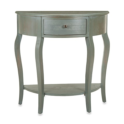 Buy safavieh jan demilune small console table from bed bath beyond - White demilune console table ...