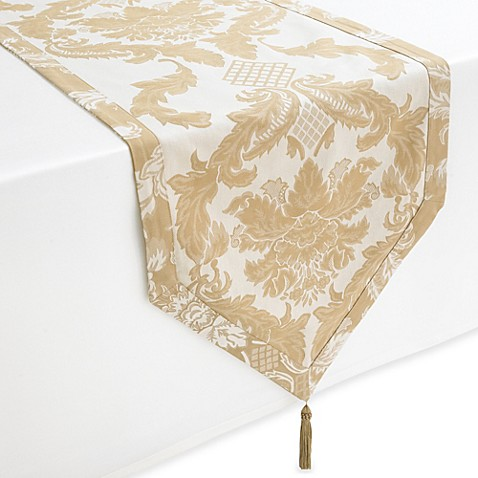 Buy Waterford 174 Linens Damascus 90 Inch Table Runner From