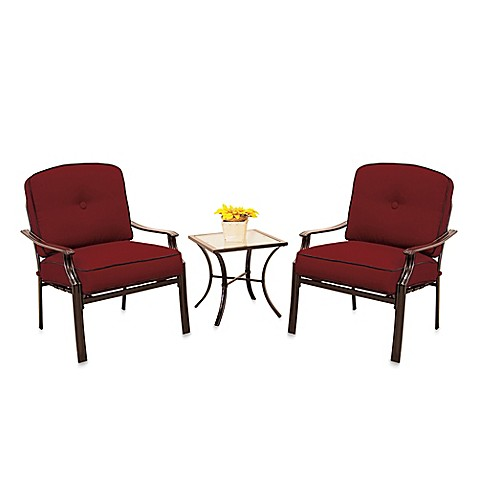 Hawthorne 3 Piece Deep Seating Chair Set In Red Bed Bath Beyond