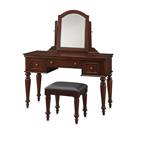 Home styles lafayette vanity set in cherry bed bath beyond - Bed bath and beyond bathroom vanity ...