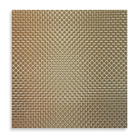 Buy bistro woven square placemat in bronze from bed bath for Small square placemats