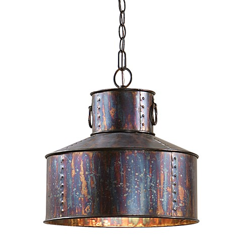 Uttermost 1-light Oxidized Bronze Pendant Lamp at Bed Bath & Beyond in Cypress, TX | Tuggl