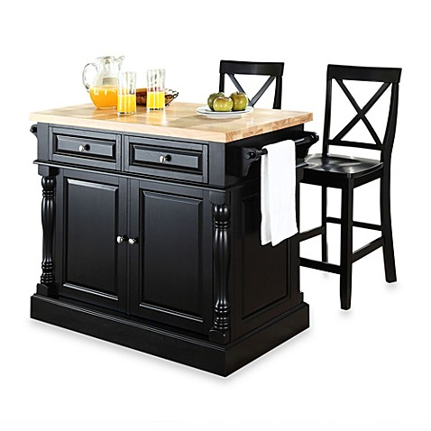 buy crosley butcher block black kitchen island with 24