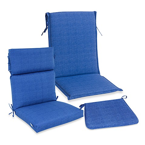 Outdoor Seat Cushion Collection In Blue Bedbathandbeyond Com