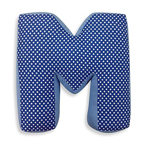 One Grace Place Simplicity Letter Quot M Quot Pillow In Blue