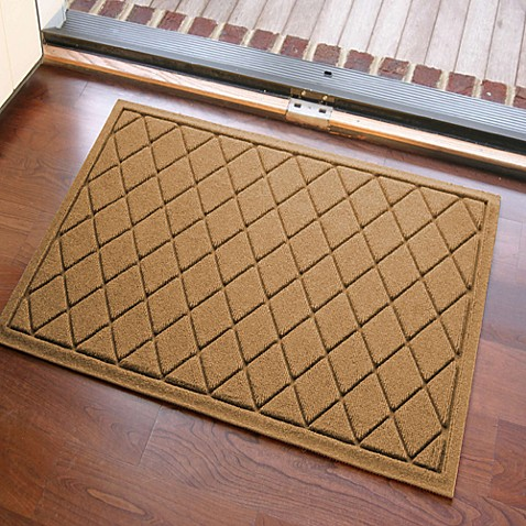 Weather Guard 23 Inch X 35 Inch Argyle Door Mat Bed