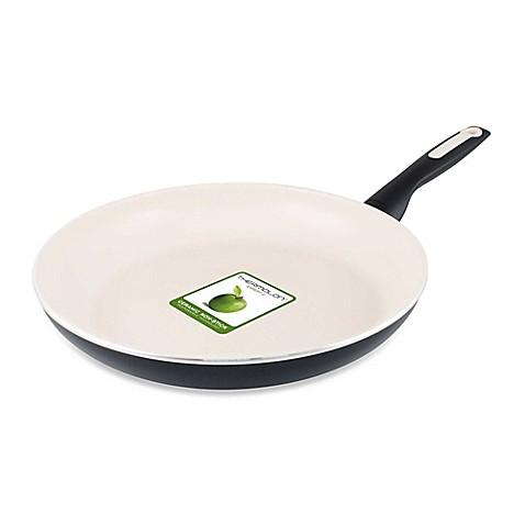 Greenpan Rio Ceramic Nonstick Fry Pans In Black Bed