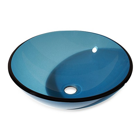 Tempered Glass Vessel Sink : Buy Avanity Tempered Glass Vessel Sink - Blue from Bed Bath & Beyond