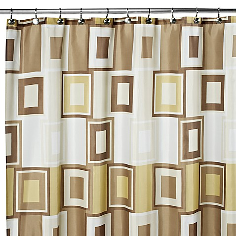 Contempo 108 Inch X 72 Inch Fabric Shower Curtain Bed Bath Beyond