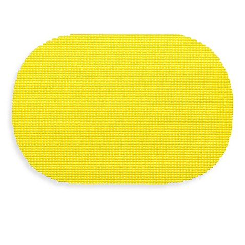Buy Kraftware Fishnet Oval Placemat In Yellow From Bed