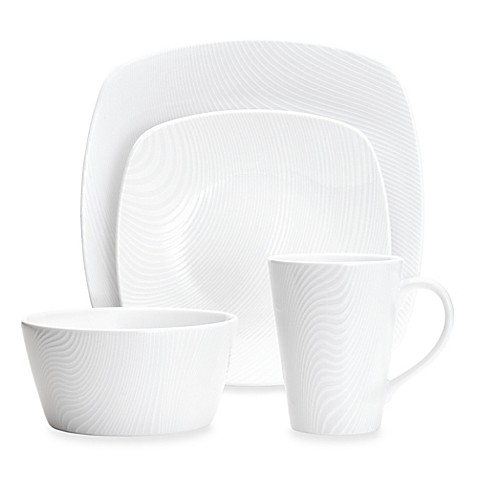 Noritake® White on White Dune Square Dinnerware Collection at Bed Bath & Beyond in Cypress, TX | Tuggl