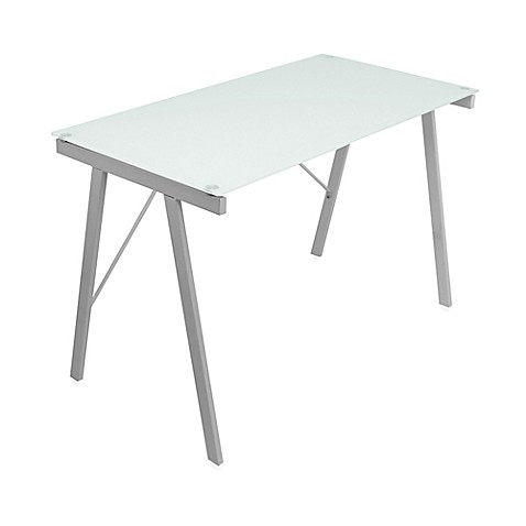 Lumi Source Exponent Office Desk In White by Bed Bath And Beyond