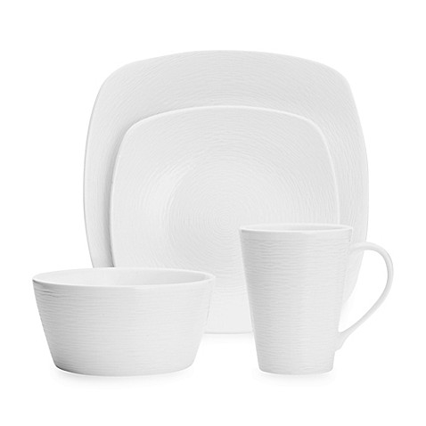 Noritake® White on White Swirl Square Dinnerware Collection at Bed Bath & Beyond in Cypress, TX | Tuggl
